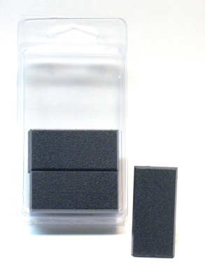 Value Pack of 10 - 50MM x 25MM Square Rectangle Black Miniature Model Cavalry Bases for TableTop or Miniature WarGames