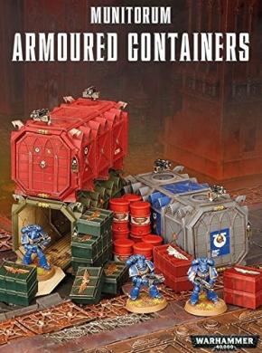 Warhammer 40k Games Workshop Munitorum Armoured Containers