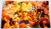 One Piece collage TCG playmat, gamemat 60cm wide 36cm tall for trading card games and keyboard and mouse smooth cloth surface rubber base