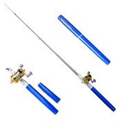 Fedi Apparel Portable Aluminium Alloy Telescopic Pocket Pen Shape Fishing Rods Reel Poles