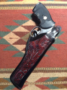 Smith & Wesson 586 & 686 Leather Thumb Break Holster with Floral Scroll