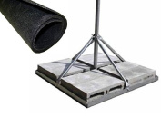 ROHN FRM150 Non-Penetrating Roof Mount with 3.8cm x 80cm Mast Bundle with FRMMAT Rubber Mat