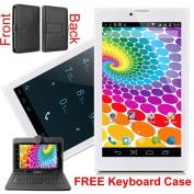 Indigi® Trendy Global UNLOCKED 3G SmartPhone 18cm Android 4.4 KitKat Tablet PC + Free Keyboard