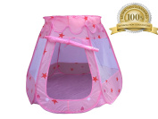 Baby Ni - Pink Colour Princess Castle - Easy Fold and Pop Up Large Play Toys Tent for Girls, Kids, and Toddlers-Indoor and Outdoor game Play Tent. 1 to 8 year old- Ocean Balls Not Included