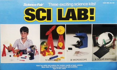 Science Fair 3-in-1 Sci Lab Kit - Mechanics, Microscope & Solar Energy (75+ Experiments)