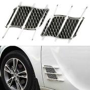 Universal Auto Car Air Intake Flow Vent Fender Decorative Hood Side Flow Chrome Vent Fender Air Net Door Sticker