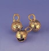 100 .190cm -Single-Cut Embossed Brass Bells