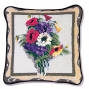 Candamar Designs 30900 Victorian Poppy Pillow Needlepoint Kit