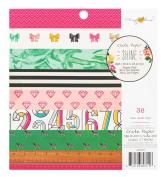 Crate Paper 36 Sheet Maggie Holmes Shine Paper Pad, 15cm x 15cm