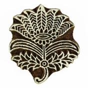 Brown Floral Wooden Printing Block Decorative Blocks Indian Wood Stamps Block Print