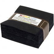 Robert Kaufman KONA COTTON ALL BLACK Precut 6.4cm MINI Charm Pack Cotton Fabric Quilting Squares Assortment 6.4cm MCH-104-84