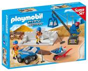 Playmobil 6144 Construction Site Super Set