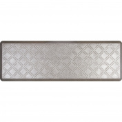 WellnessMats EM62WMRSL Estates Moire Kitchen Mat - Silver Leaf, 6 L x 2 W ft.
