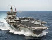 USS Enterprise (CVN 65) is underway in the Atlantic Ocean