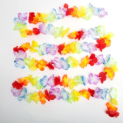 Lot Of 12 Jumbo Flower Lei Garland For Luau Party Decoration