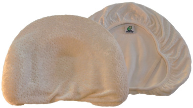 Infant Head Shaping Memory Foam Pillow & Organic Bamboo Pillowcase. Luxury Gift to KEEP a baby's head round. No Flat head or Plagiocephaly (White)