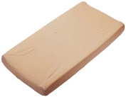 TL Care Organic Cotton Velour Fitted Contoured Changing Pad Cover, Mocha