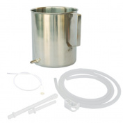 High Grade Stainless Steel Enema Kit (1.4l) with Medical Grade Silicone Hose by HealthGoodsInTM