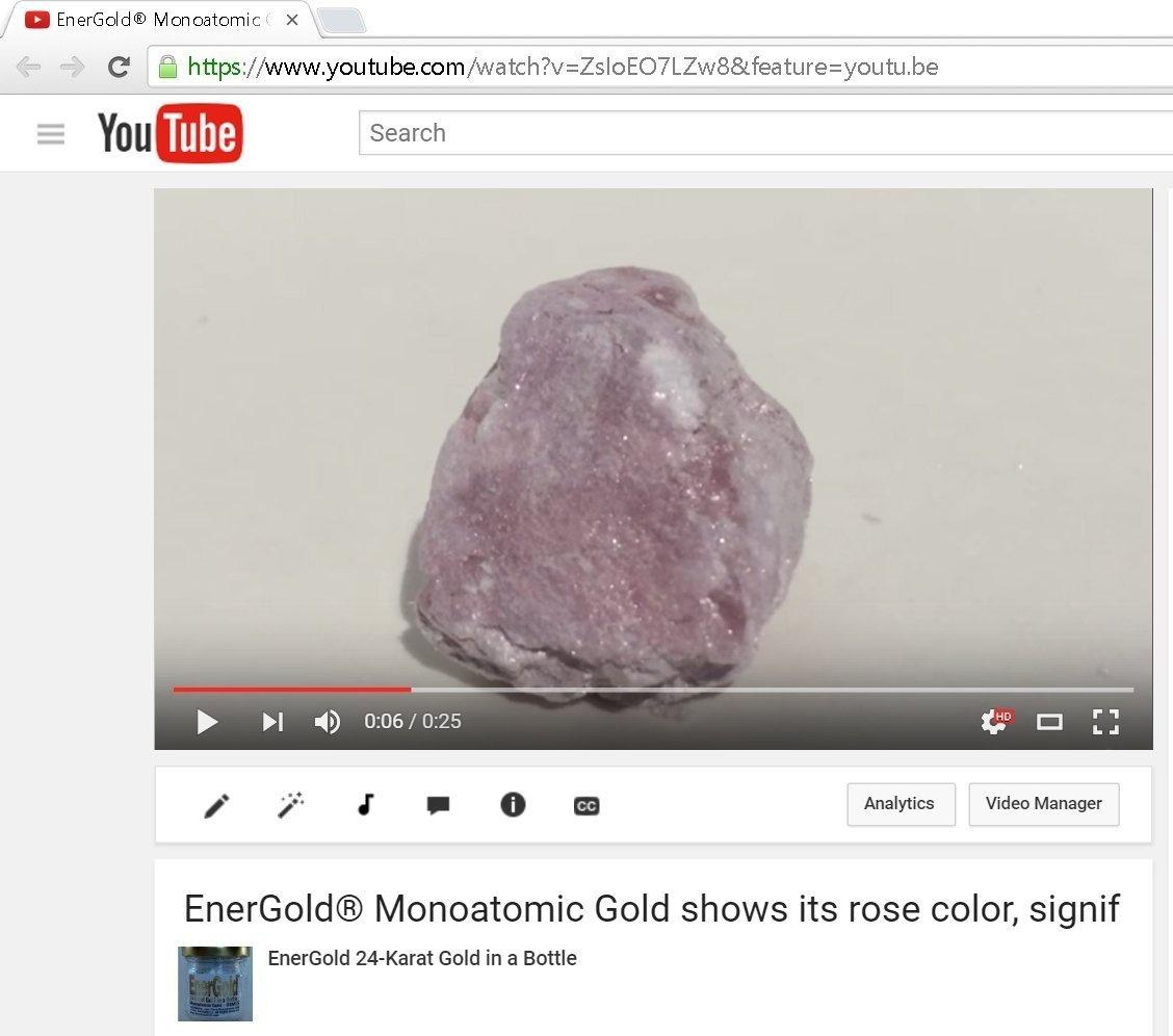 EnerGold® 24-Karat-Gold-Based 2-In-1 Monoatomic-Colloidal Gold 240ml Glass  Bottle - Sparkling ORMUS - Most-Potent on Earth