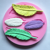 Longzang Feather Silicone Mould Sugar Craft DIY Gumpaste Cake Decorating Clay