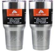 Ozark Double-Wall Insulated stainless steel tumblers - set of 2, 890ml