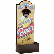 Lily's Home Vintage Beer Bottle Opener With Cap Catcher, Father's Day Gift