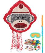 Birthday Express - Sock Monkey Red Pinata Kit