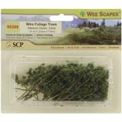 Wire Foliage Trees 3.8cm To 7.6cm 24/Pkg-Medium Green