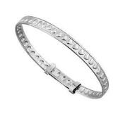 925 Sterling Silver Heart Christening Gift Baby Bracelet