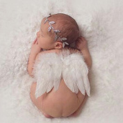 Distinct® Newborn Baby Silver Leaf White Angel Wings Costume Photo Photography Prop Outfits