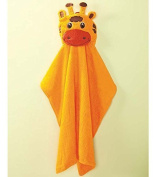 Embroidered Giraffe Face Hooded Towel