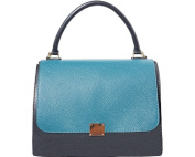 """FIRENSE - Made in Italy, Casual Elegance, Bowling Bag, Shoulder Bag, Soft Leather, 30 × 23 × 19 cm """"Saint Tropez"""""""