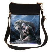 Protector Wolf Shoulder Bag By Anne Stokes