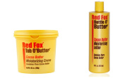 Red Fox Cocoa Buter Bottle O' Butter Lotion 473ml PLUS Red Fox Tub O' Butter Creme 287g SET