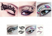 Hitece 10 paires Temporary Eye Tattoo Transfer Eyeshadow Stickers Eyeliner by Hitece