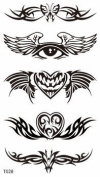GGSELL GGSELL new release temporary tattoos stickers for men and boy,one paper tattoo including butterfly, eye and heart totem designs by GGSELL