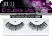 Ardell Double Up #204 False Eyelashes, Black (Pack of 4 Pairs) by Ardell