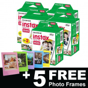 Fujifilm Instax Mini Film (100 shots) + 5 FREE Photo Frames