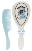 Stephan Baby Brush and Comb Gift Set, Blue Dog