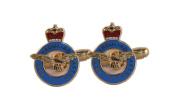 RAF ENAMEL CUFFLINKS, ROYAL AIR FORCE ENAMEL CUFFLINKS