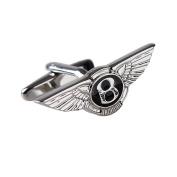TNS Silver Bentley Mark Cufflinks Cuff-Links