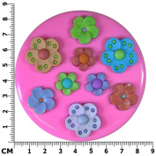 Tropical Flowers Silicone Mould Mould for Cake Decorating Cake Cupcake Toppers Icing Sugarcraft Tool by Fairie Blessings