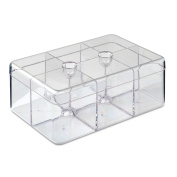 Rosti Mepal Rectangular Clear Tea Storage Box Holds up to 60 Tea Bags