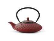 Xilin cast iron red 0.8L teapot