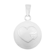 Eudora Harmony Ball Heart in Heart Pendant Birthday Gift Sterling Silver Plated 110cm Long Necklace