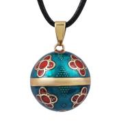 Eudora Harmony Ball Vintage Pendant for Women Flower Jewellery Necklace Long 110cm Soft Chime