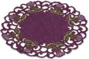 Pair of Doilies (small) in a Glencoe Thistle Design.