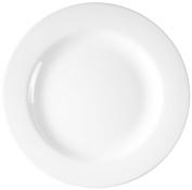 Esmeyer 440 012-054 Restaurant, White Glass, Set of 6 Dinner Plate 24.5 x 24.5 x 1.5 cm 6 Units