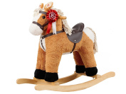 Rocking Horse Light Brown/White with sound, 65569