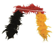 Feather Boa Germany black / red / yellow
